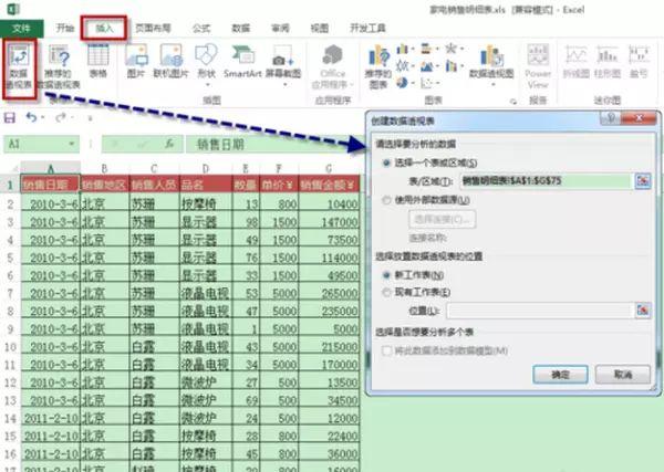 数据透视表的使用方法