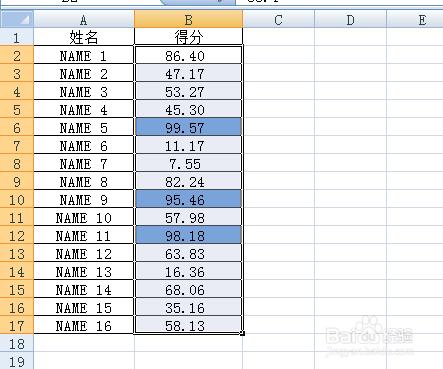 条件格式颜色标出图示