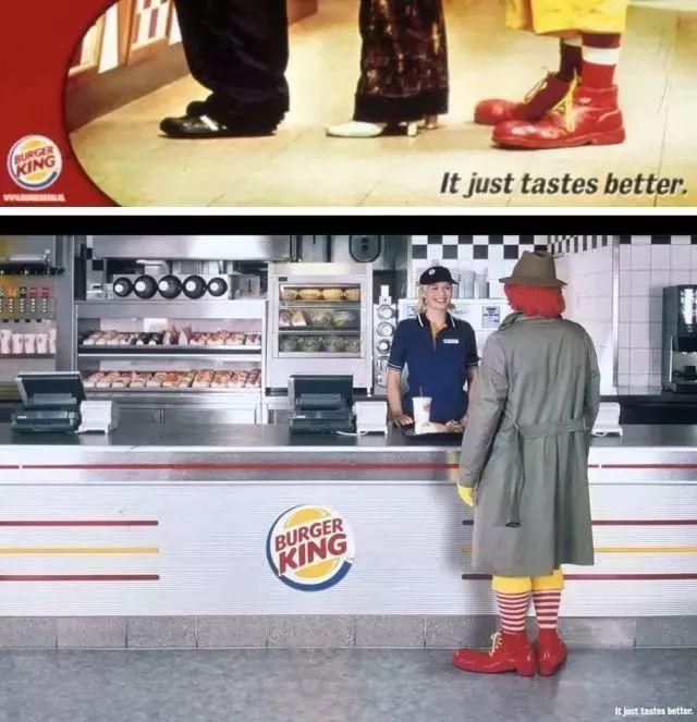 麦当劳叔叔乔装打扮买汉堡王